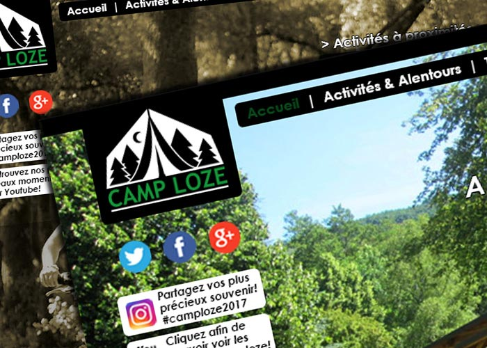 Design de site pour un camp de vacance