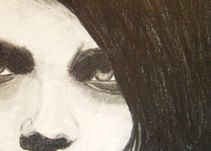 Portrait de Gerard Way (My chemical Romance) au crayon